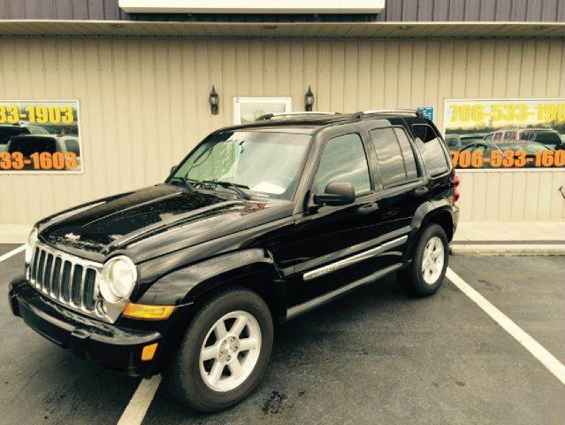 2007 JEEP LIBERTY LIMITED 4DR SUV black buy here pay here air conditioning power windows power