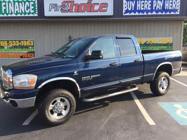 2006 DODGE RAM PICKUP 2500 SLT 4DR QUAD CAB 4WD SB blue 17 inch chrome alloy wheels 4wd type - p