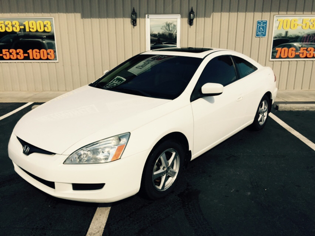 2003 HONDA ACCORD EX WLEATHER 2DR COUPE white buy here pay here abs - 4-wheel anti-theft system