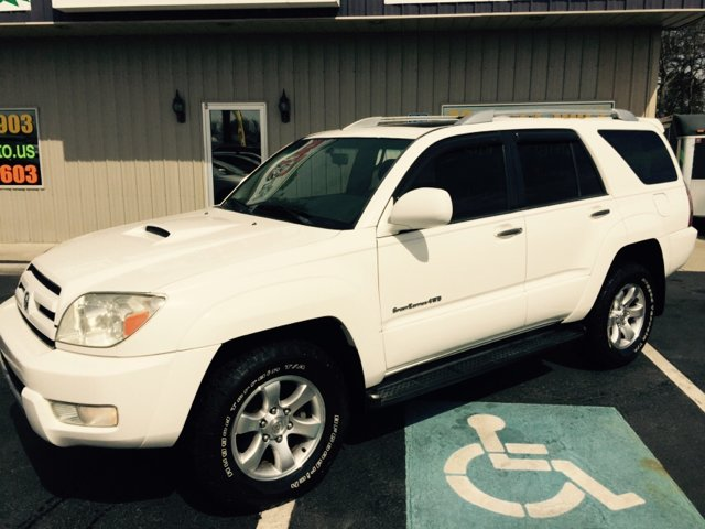 2003 TOYOTA 4RUNNER SPORT EDITION 4WD 4DR SUV white cash only on this one abs - 4-wheel axle rat