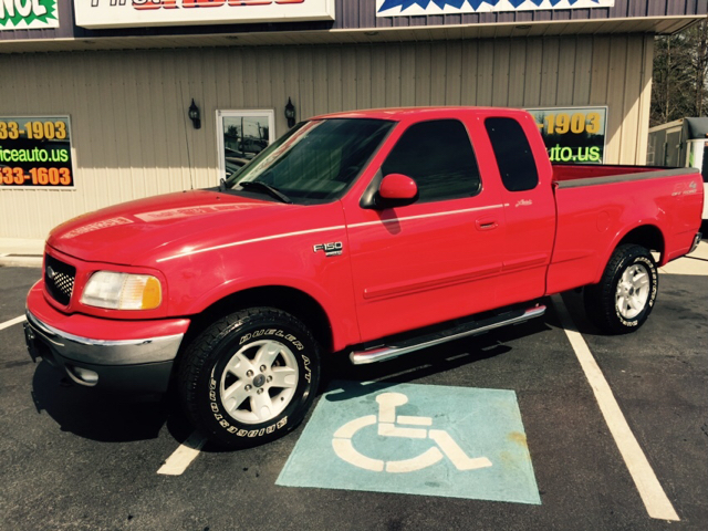 2003 FORD F-150 LARIAT 4DR SUPERCAB 4WD STYLESID red buy here pay here  -  we finance  - nice 4x4