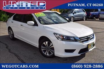 2013 Honda Accord for sale in Putnam, CT