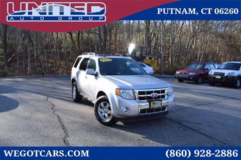 2012 Ford Escape for sale in Putnam, CT