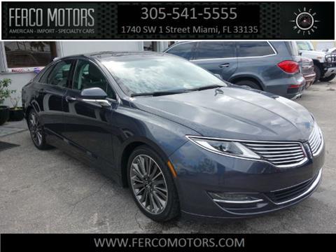 2013 Lincoln MKZ for sale in Miami, FL