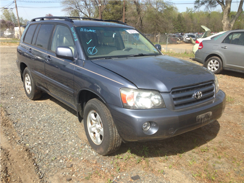 2007 toyota highlander for sale north carolina. Black Bedroom Furniture Sets. Home Design Ideas