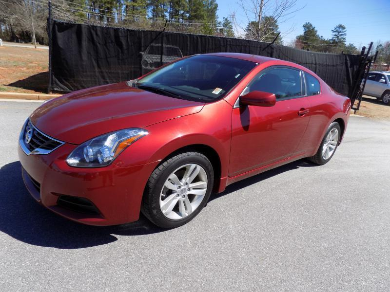2013 NISSAN ALTIMA 25 S 2DR COUPE red security remote anti-theft alarm systemcrumple zones fr