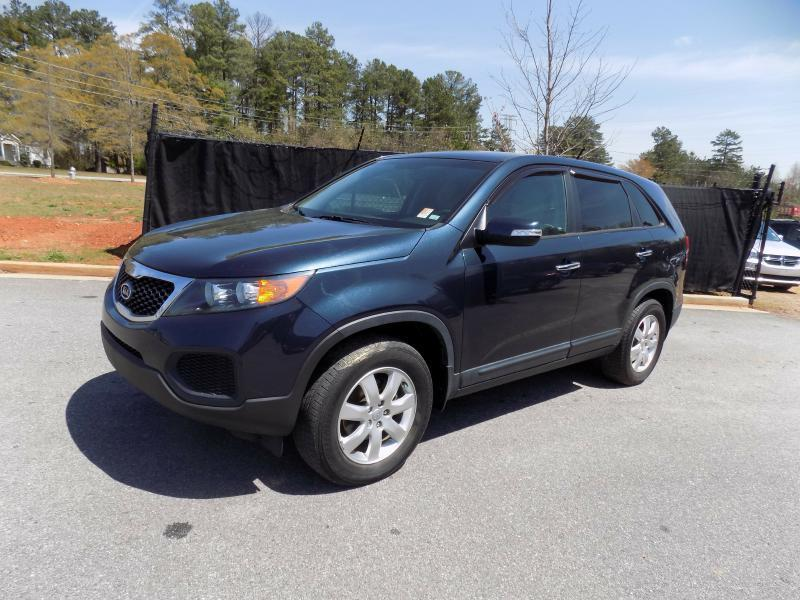 2013 KIA SORENTO LX 4DR SUV blue stability control electroniccrumple zones front and rearphon