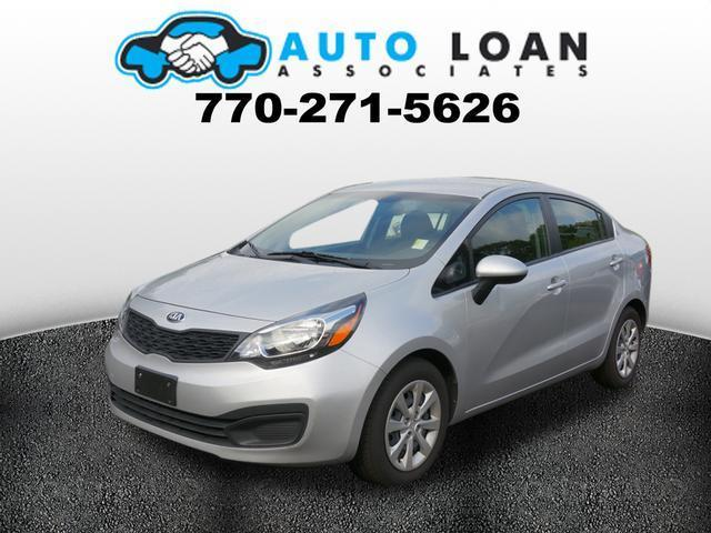 2013 KIA RIO LX 4DR SEDAN 6A silver crumple zones front and rearstability control electronicw