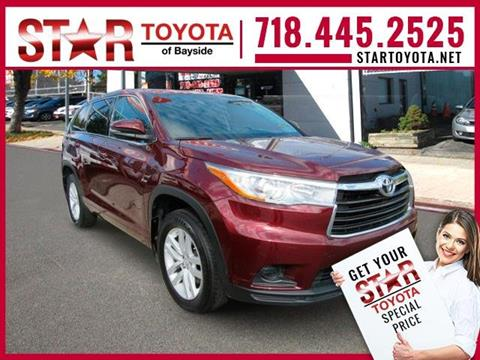 2015 Toyota Highlander for sale in Flushing NY