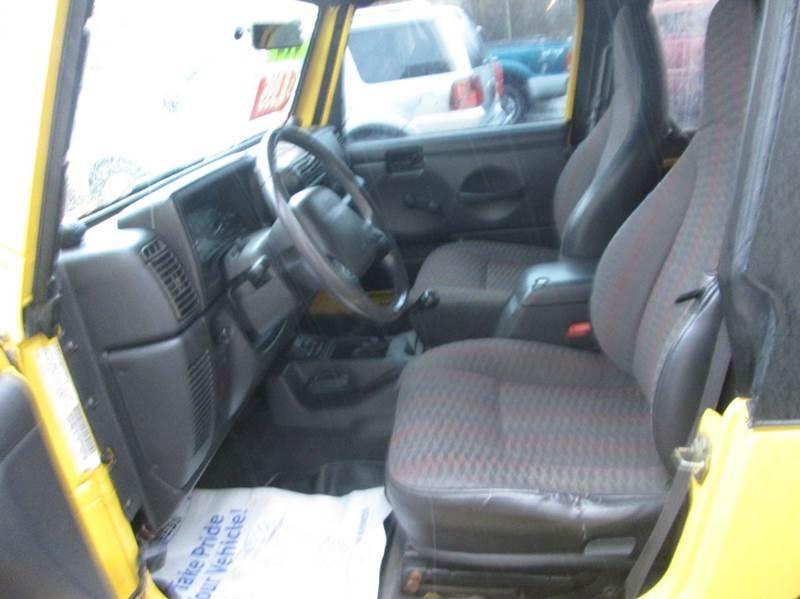 2000 Jeep Wrangler 2dr Sport 4WD SUV - Hazleton PA