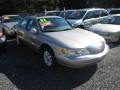 2002 Lincoln Continental For Sale Carsforsale Com